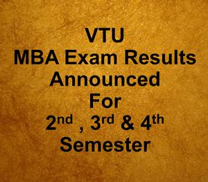 Mba Results: Vtu Results Mba